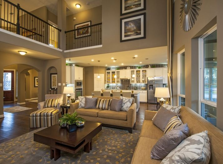 Best Two Story Family Room Images On Pinterest Homes