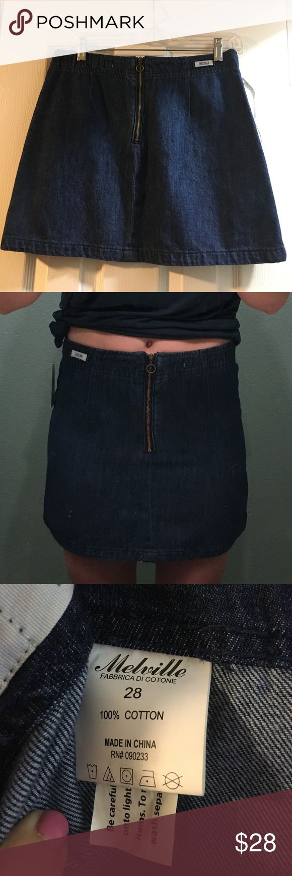 BRANDY MELVILLE DENIM ZIP UP SKIRT Denim zip up Brandy Melville skirt was bough and new worn (so new with tags). Perfect condition. Was bought and never worn and recently found out that it was too small. Price is negotiable!!! Comment below for more details! Brandy Melville Skirts Mini