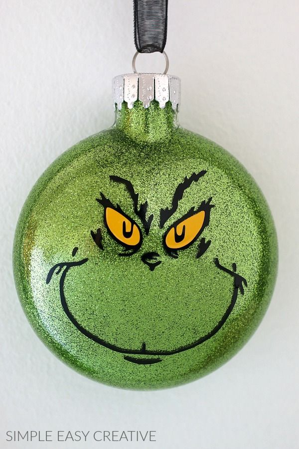 Grinch Ornaments Make your own Grinch Christmas