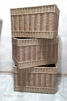 Мастер-класс Поделка изделие Плетение Короба коробочки  Бумага газетная Трубочки бумажные фото 1