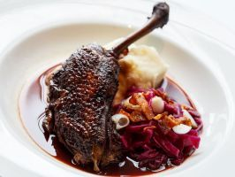 """Dinner On the Town: <a href=""""/content/food/restaurants/co/telluride/l/la-marmotte-restaurant.html"""" adhocenable=""""false"""">La Marmotte</a> : <p>This rustic and elegant French restaurant served as the town's icehouse 125 years ago. Over the last 20 years, it's become a fine-dining destination, thanks to Executive Chef Mark Reggiannini's menu, which offers sophistication without pretense. This is Telluride, after all. A case in point is the chef's take on breakfast: Steak and Eggs, Bacon and…"""