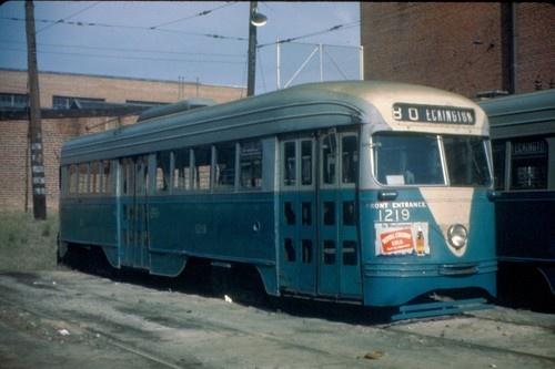 Capital Transit PCC at Eckington Car Barn (1946). | DC ...