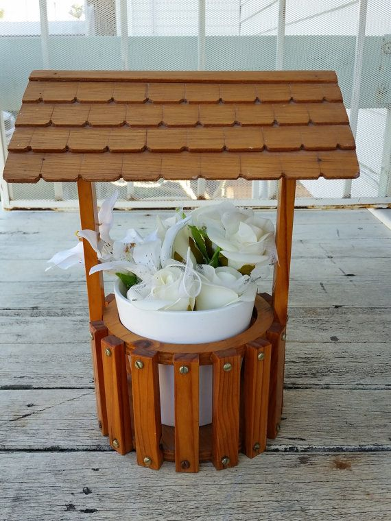 Check out this item in my Etsy shop https://www.etsy.com/au/listing/467262732/wishing-well-decoration-planter-wedding