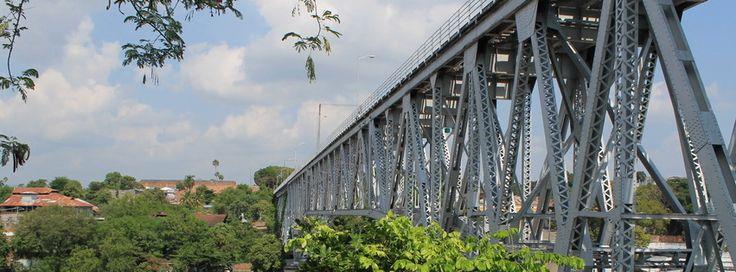 Puente ferroviario de Girardot Cundinamarca, desde Flandes Tolima.