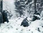 American soldiers in defensive positions in the Ardennes, Dec 1944