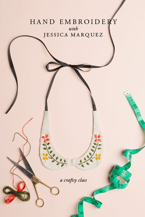 From THE HOUSE THAT LARS BUILT: Hand embroidered Peter Pan collar #getcreative #adelinecrafts