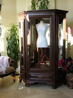 Bridal Armoire, Wedding Gown Display Case