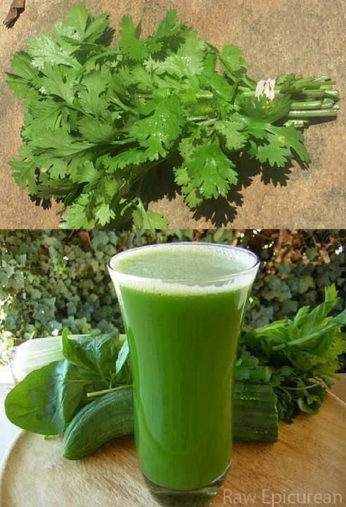 CLEAN YOUR KIDNEYS  Parsley is known as best cleaning treatment for Kidneys .Years pass and our kidneys are filtering the blood by removing salt, poison and any unwanted entering our body. With time, the salt accumulates and this needs to undergo cleaning treatments.Take a bunch of parsley (or Cilantro) & wash it. Chop, juice it or blend with clean water or coconut water. Drink one glass daily; you'll notice all salt and other accumulated poison coming out of your kidney by urination.
