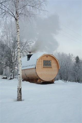 Round sauna