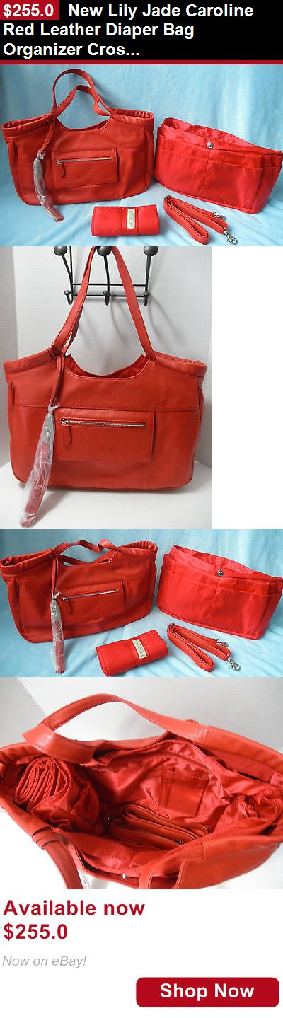 Baby Diaper Bags: New Lily Jade Caroline Red Leather Diaper Bag Organizer Crossbody Handbag Purse BUY IT NOW ONLY: $255.0