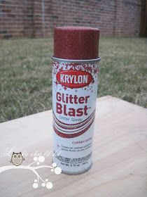 Lookie What I Did: Christmas Glass Block using Krylon Glitter Blast