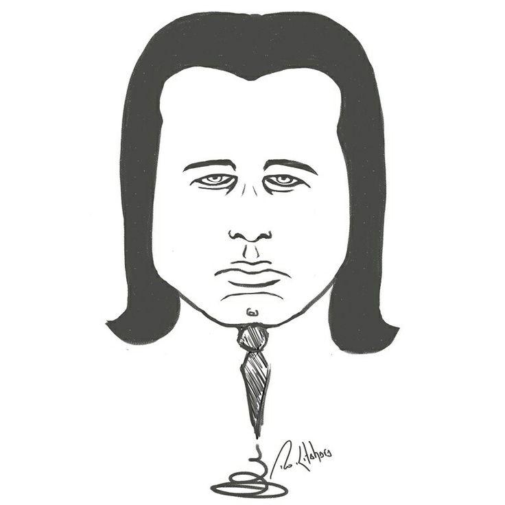 #JohnTravolta #caricatura #caricatura #pulpfiction #tarântula #rokitahara