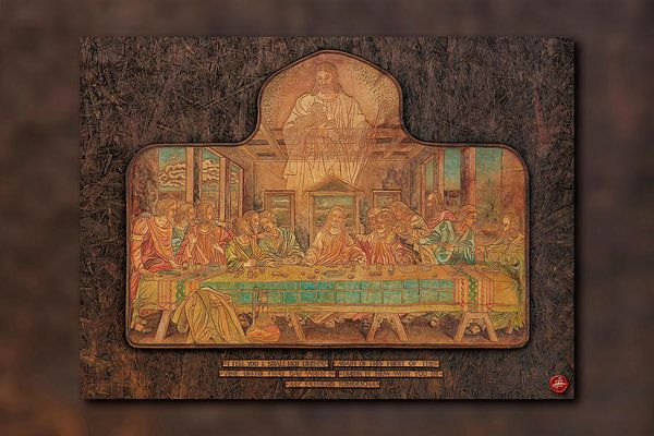 Acrylic Prints Art Print featuring the mixed media The Last Supper Revisited by Ian Anderson