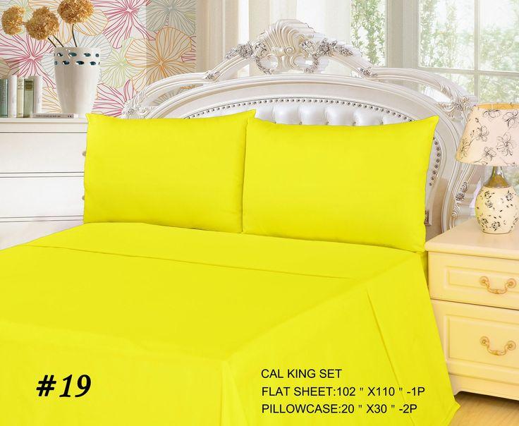 Tache 2-3 Piece Lemon Drop Yellow Bed Sheet Set (Flat Sheet)