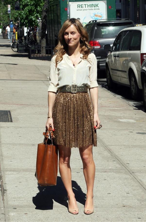 Bling skirt for day wear.