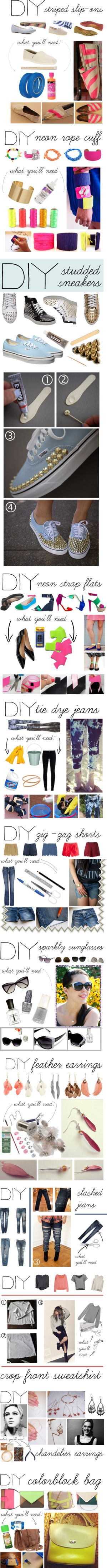 DIY Gold!!! Love the Tiedyed Jeans and Striped Flats!!!