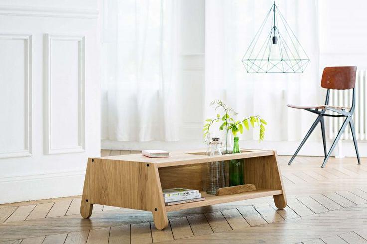 Table basse en bois sur-mesure.