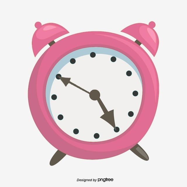 Clock Vector Alarm Clock Child Get Up Schedule Pink Pink Vector Alarm Vector Clock Clipart Clock Alarm Clock