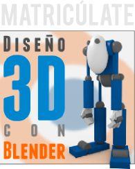 Matricúlate en el curso Diseño 3D con Blender de Joaclint Itsgud, para la obtención de la Certified Trainer.