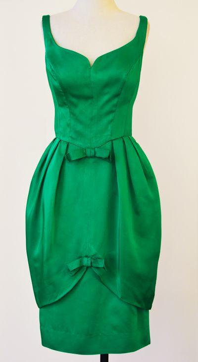 1960's Petal Skirt Cocktail Dress