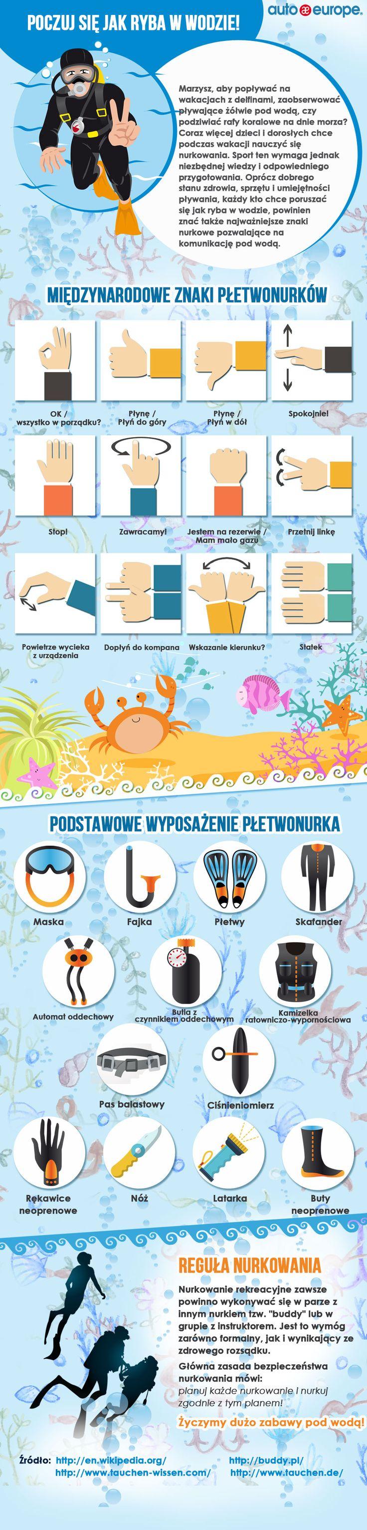 Infografika: Nurkowanie na wakacjach - Kliknij tu i zobacz nasze infografiki: http://www.autoeurope.pl/go/infografiki/