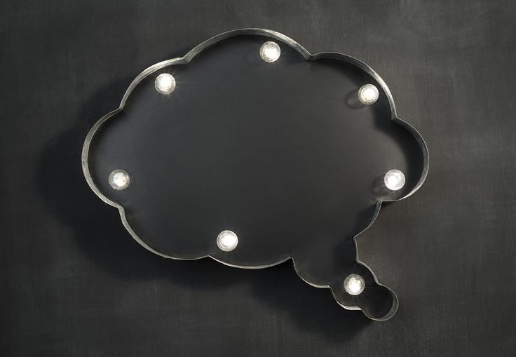 New instore our Chalkboard metal idea cloud marquee light. It takes 2AA batteries making it totally portable so it is perfect for any party or event !