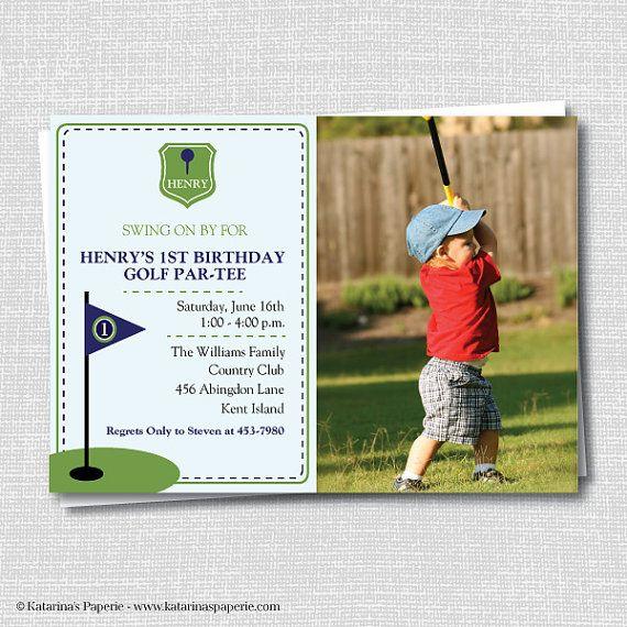 Golf Birthday Photo Invitation