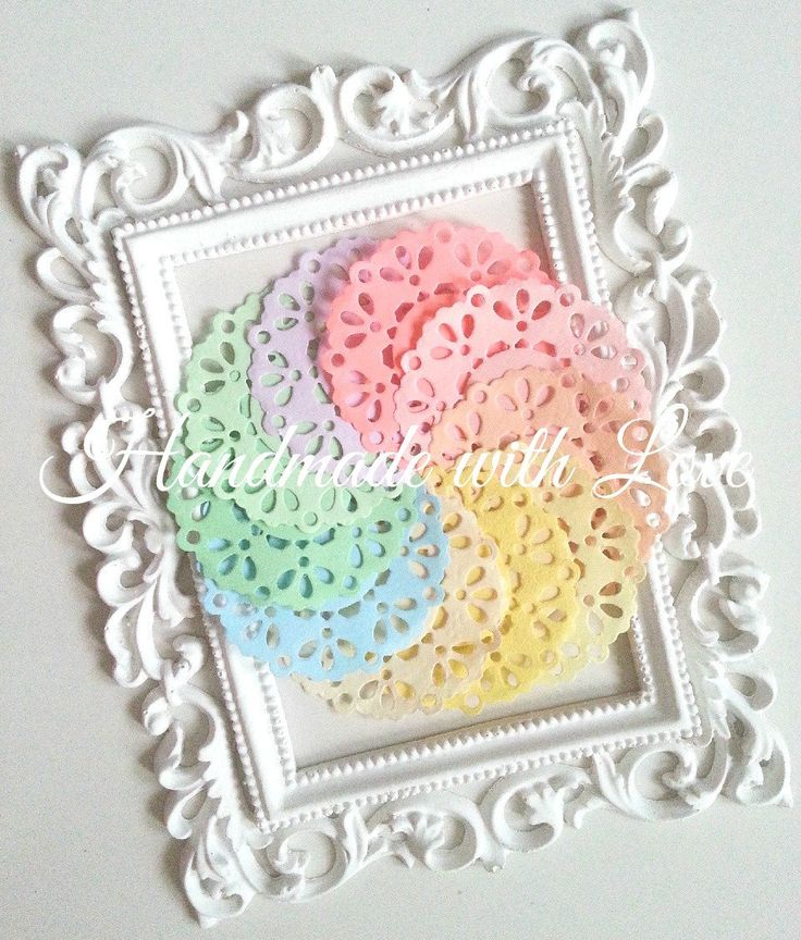 2.3 inches Pastel Paper Doilies, 1 pack of 10pcs sweet pastel colour by PaperCraftwithLove on Etsy