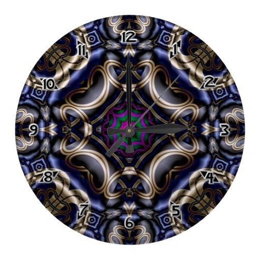 Fractal Steel Tube Metallic Quad Emerald Dome Wall Clocks $28.10 - Click Here http://xzendor7.com/xzendor7-wall+clocks.php