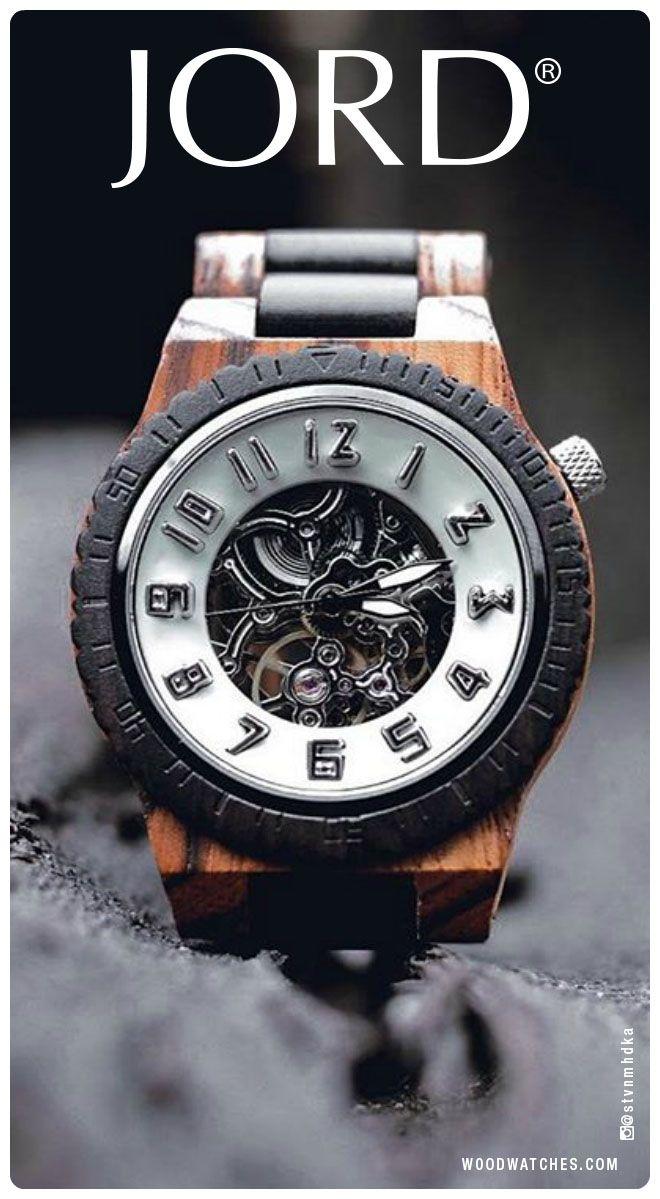The beauty of nature is unparalleled. That's why JORD designs each one of their Dover watches with natural wood from around the world. The intricately grained pieces are paired with a high performance, self-winding automatic movement - creating a timepiece worthy of collection. Find your Dover today at www.woodwatches.com. Shipping worldwide, free shipping in the U.S.!
