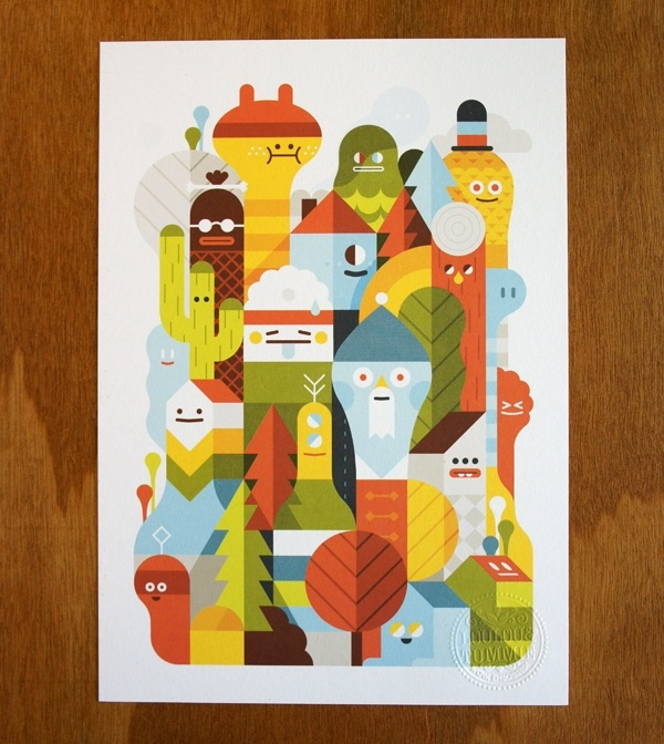 Designspiration — Character City print on the Behance Network