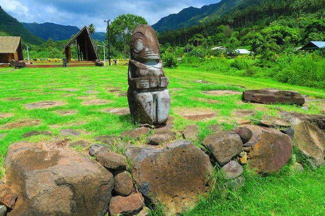 Marquesan Arts Festival site - nuku hiva venue