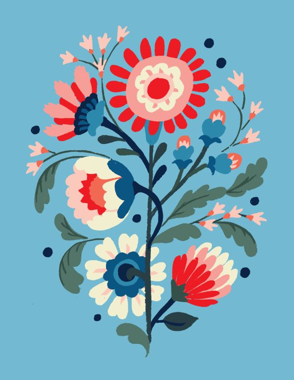 Floral Exploration by Jill De Haan #design #illustration