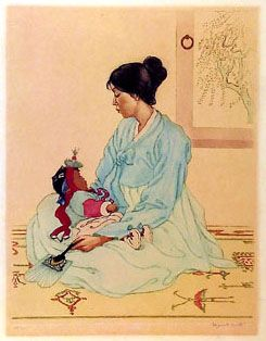Korean Mother and Child by Elizabeth Keith