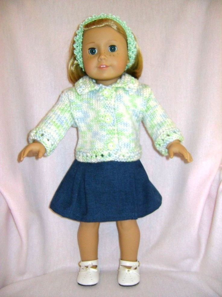 Doll clothes/ HANDMADE Skirt/Sweater Set/Fits American Girl 18 inch Dolls #HANDMADE