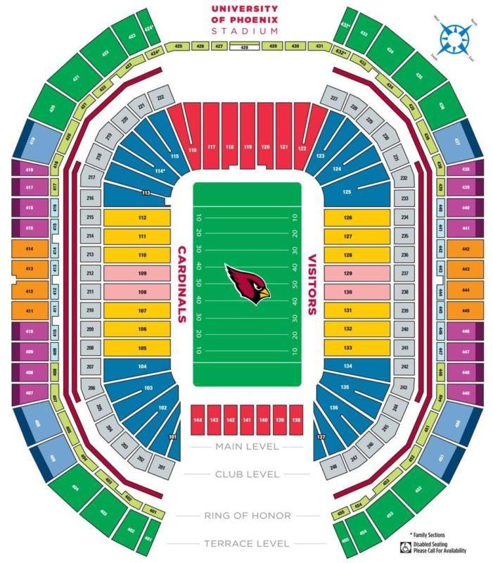 <MONDAY NIGHT FOOTBALL <DALLAS COWBOYS VS. ARIZONA CARDINALS University of Phoenix Stadium Glendale, AZ Date: September 25, 2017 Time: 5:30 PM LOWER L... #tickets #cardinals #arizona #cowboys #dallas