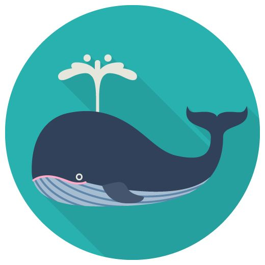 クジラのフラットアイコン