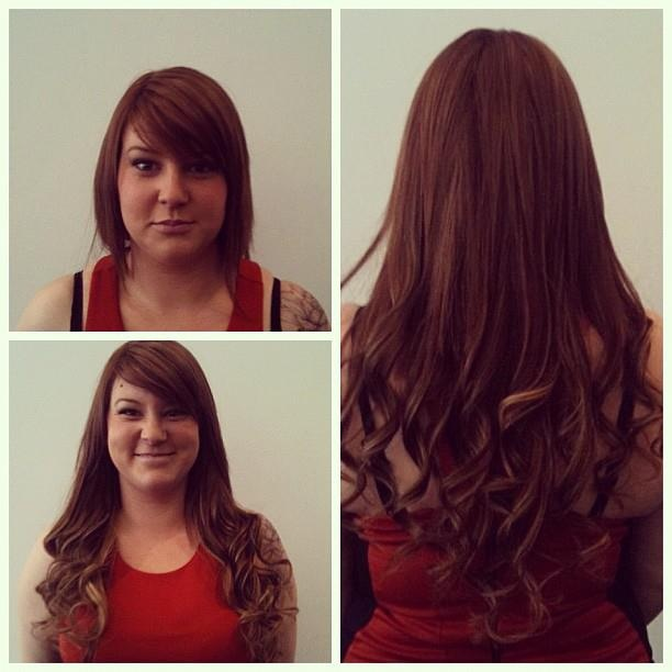 #Hair extensions before and after at our Richmond #salon. Book online at http://bit.ly/WFb4jJ #blowdrybar