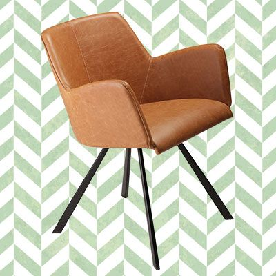 VIBE CHAIR in art. leather #Retro #Vintage #50ies #Furniture #Graphic