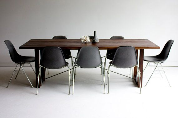modern dining table modern wood dining table harvest by BertuHome