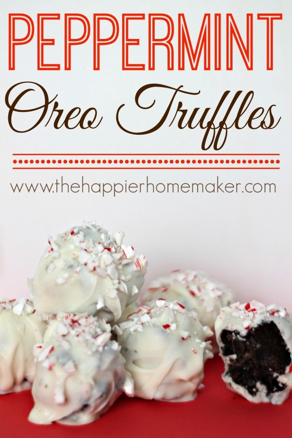 This peppermint oreo truffle recipe is perfect to make during the holiday season.