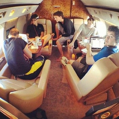 Flying private with friends. #tbt by officialvk