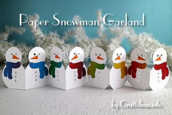 Téli Craft - Paper Hóember Garland