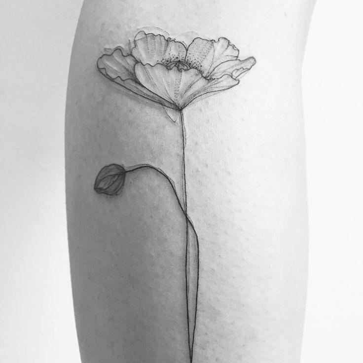 """Gefällt 209 Mal, 3 Kommentare – I N A • M A R (@inamar_art) auf Instagram: """"• P O P P Y L O V E • #tattoo #linework #sketch #sketchwork #fin"""