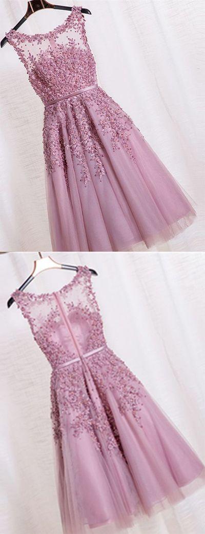 Beauty Graduation Dress,Short Prom Dress,Tulle Homecoming Dress,Beading Prom Dress