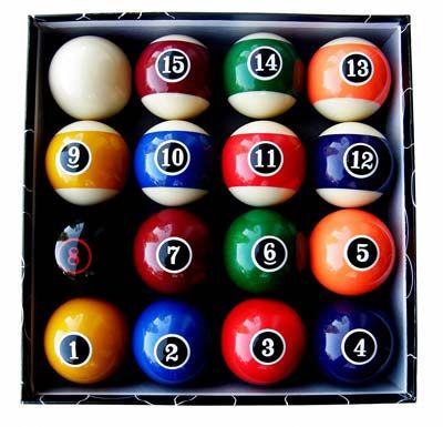 Iszy Billiards Pool Ball Set (Modern Style)