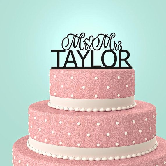 Hey, I found this really awesome Etsy listing at http://www.etsy.com/listing/178840957/personalized-custom-mr-mrs-wedding-cake