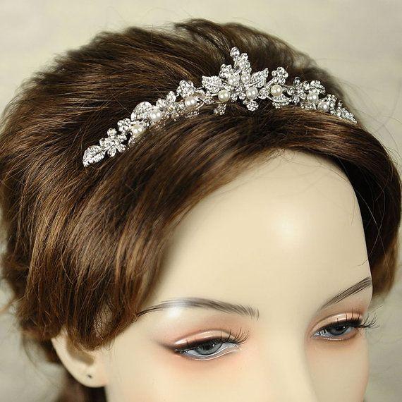 TIMOTHEA Wedding Tiara SWAROVSKI Crystal by GlamorousBijoux, $75.00