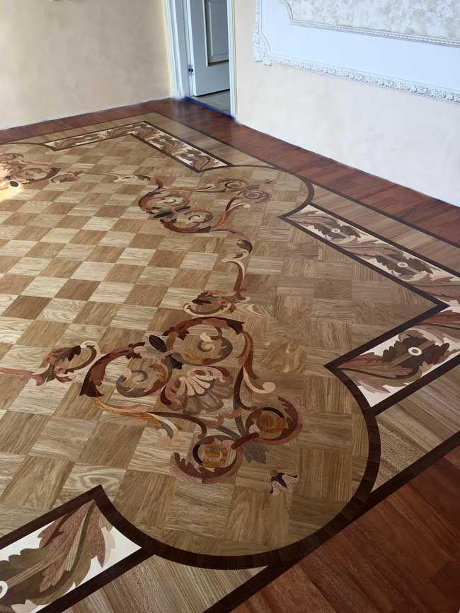 Picture Of Wood Rug Inlay Id507 Example Of Custom Floors