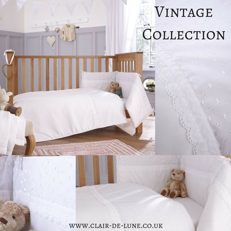 Are you feeling something traditional but not mega frilly? We've got you covered with the Vintage Cot Bedding -